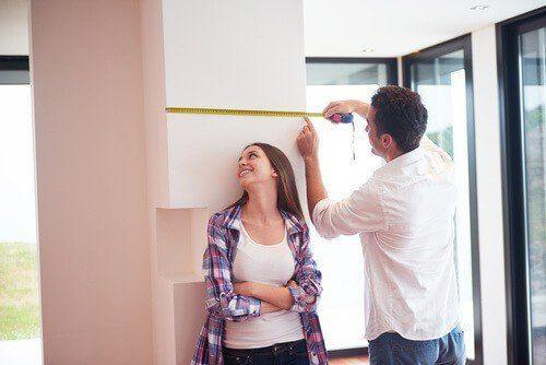 טיפים ללקיחת מידות לחדר עם עמוד בפינה
