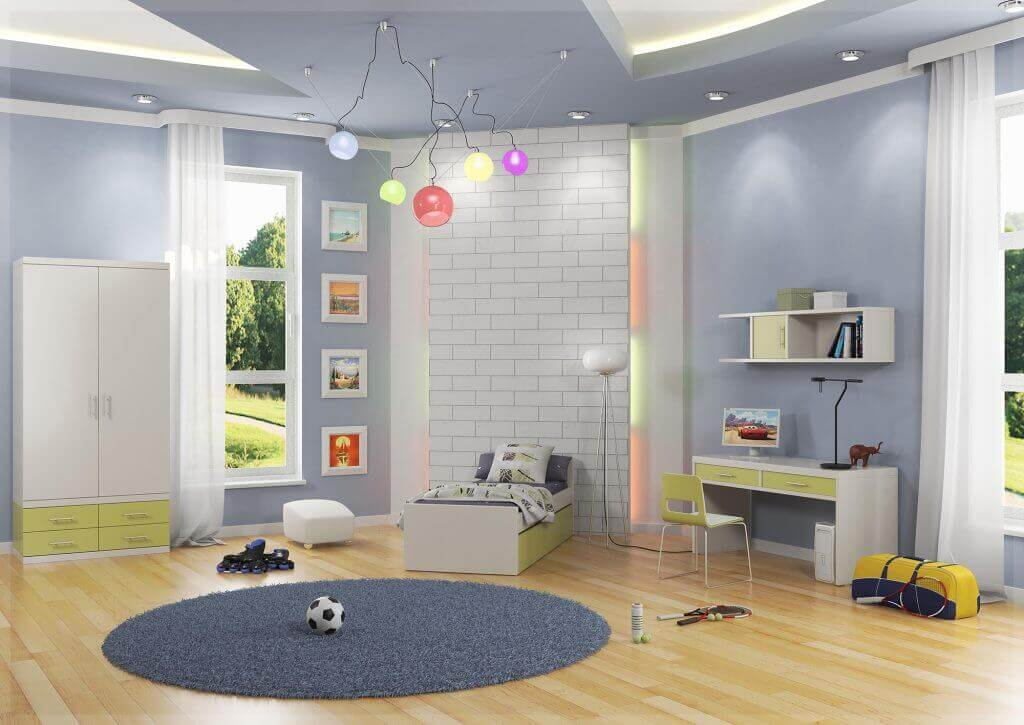 חדרי ילדים - חדר ילדים דגם אור